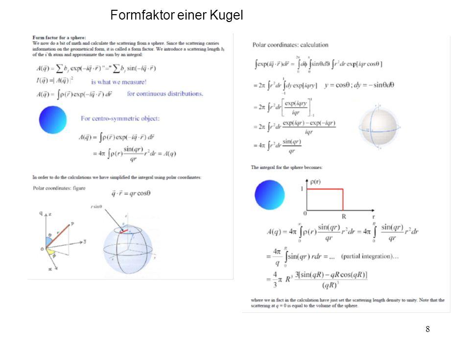 Formfaktor einer Kugel