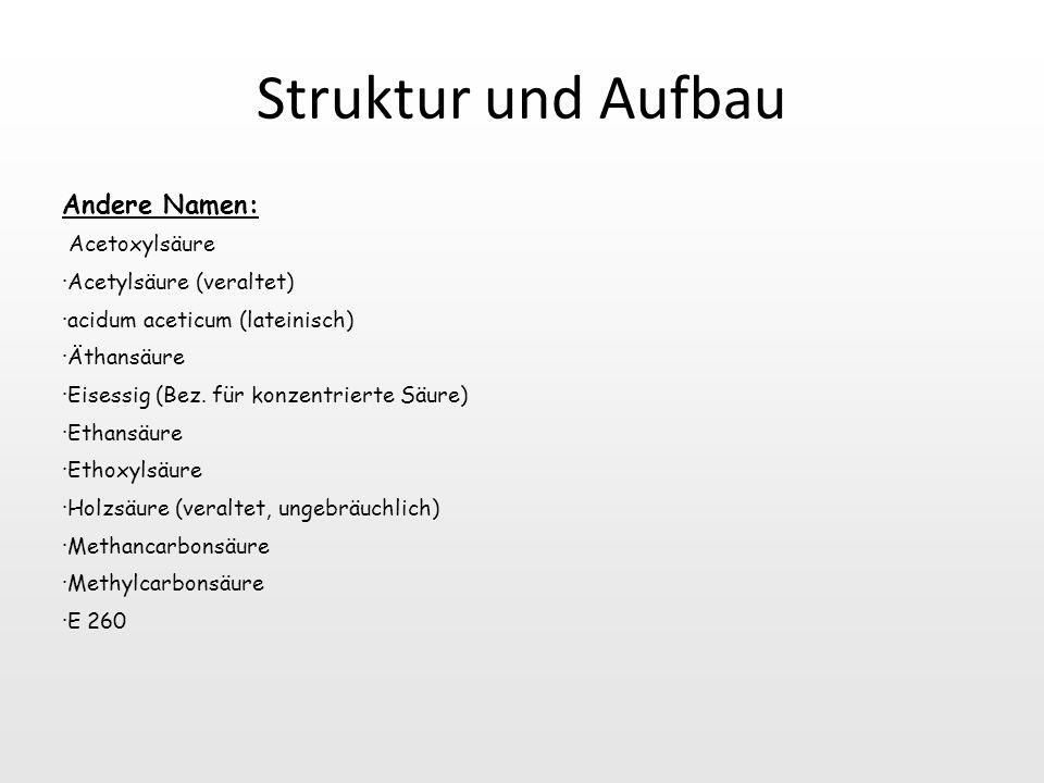 Struktur und Aufbau Andere Namen: Acetoxylsäure
