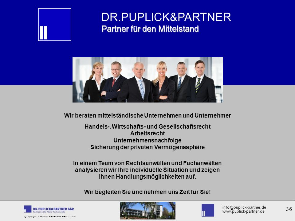 DR.PUPLICK&PARTNER Partner für den Mittelstand