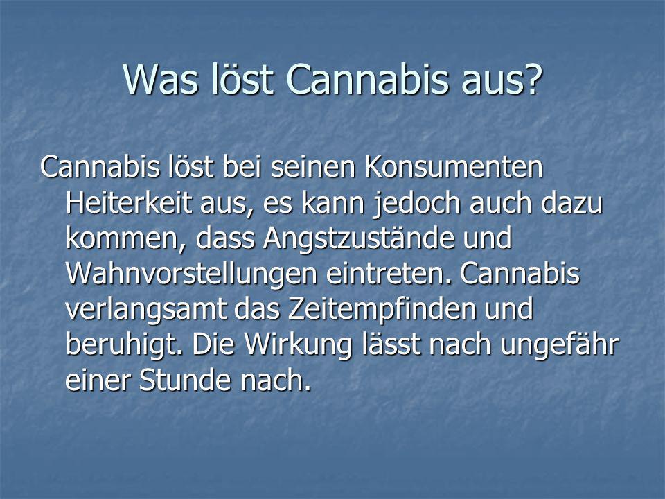 Was löst Cannabis aus