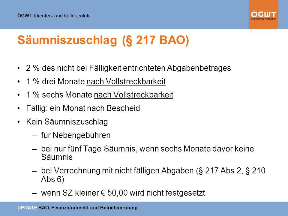 Säumniszuschlag (§ 217 BAO)