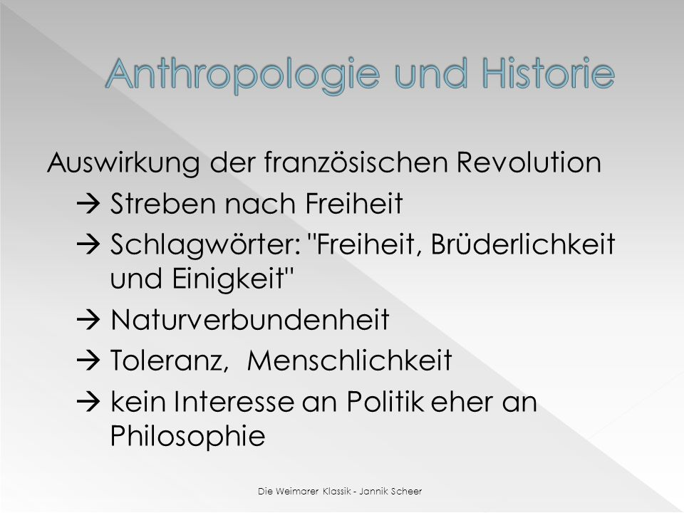 Anthropologie und Historie