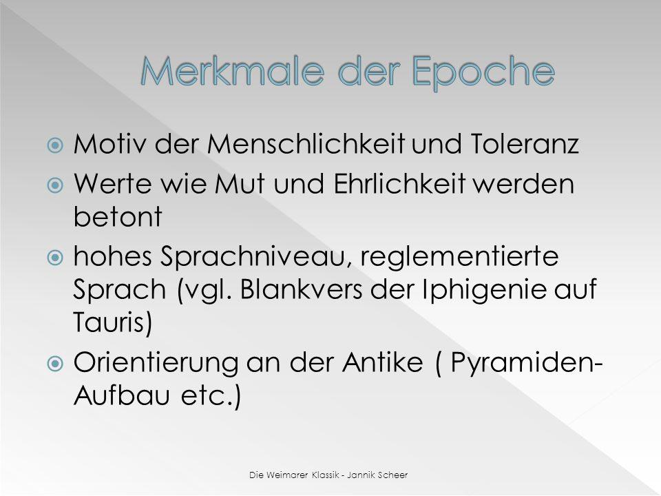 Die Weimarer Klassik - Jannik Scheer