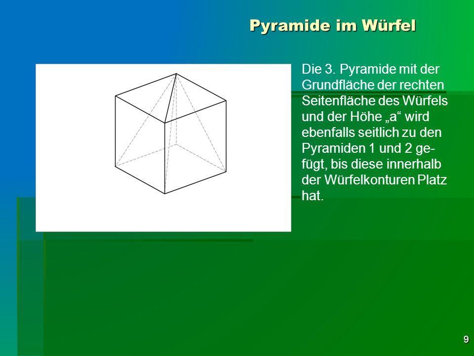Pyramide im Würfel