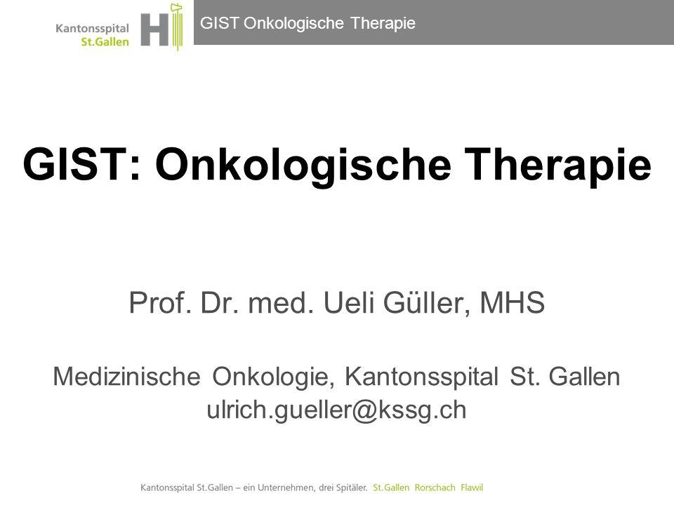 GIST: Onkologische Therapie