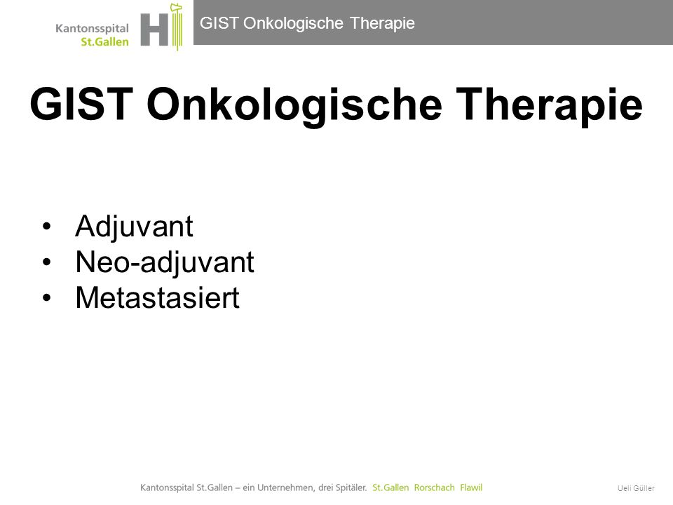 GIST Onkologische Therapie