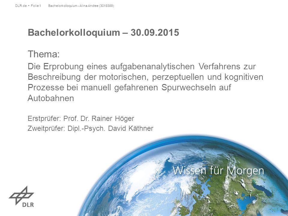 Bachelorkolloquium – 30.09.2015 Thema: