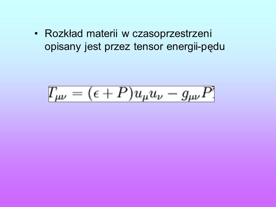 Rozkład materii w czasoprzestrzeni opisany jest przez tensor energii-pędu