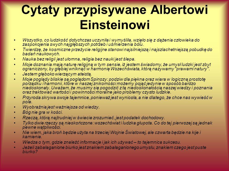 Cytaty przypisywane Albertowi Einsteinowi