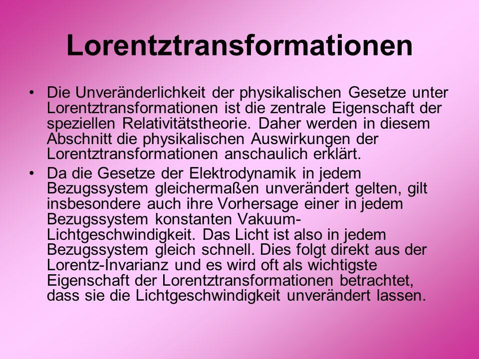 Lorentztransformationen