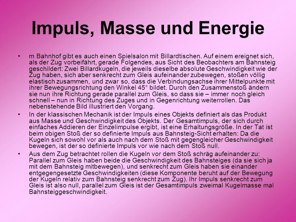 Impuls, Masse und Energie