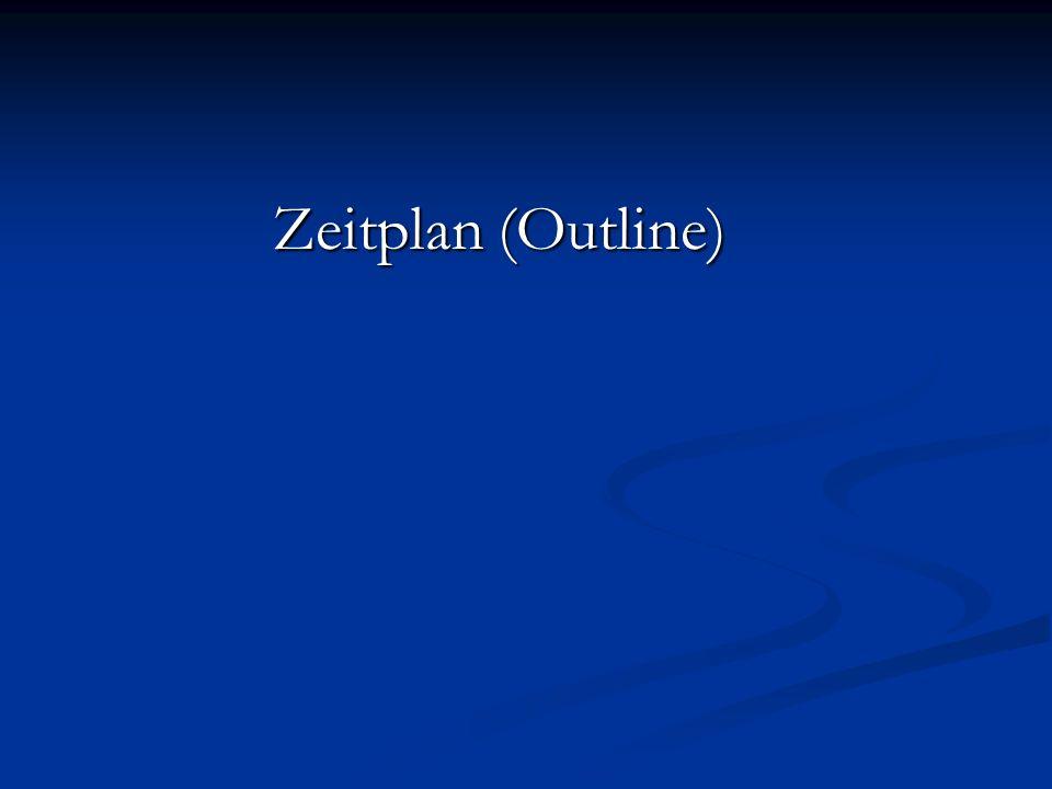 Zeitplan (Outline)