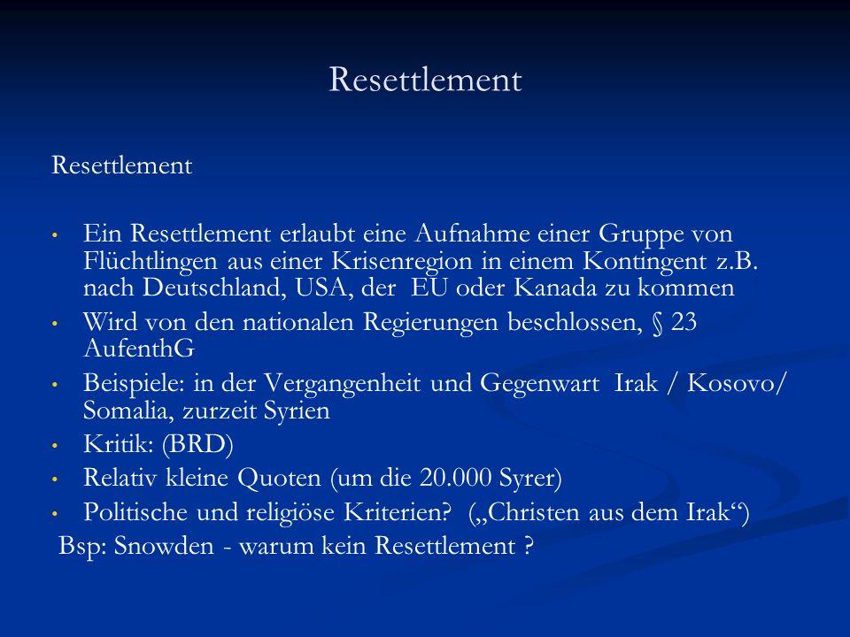 Resettlement Resettlement