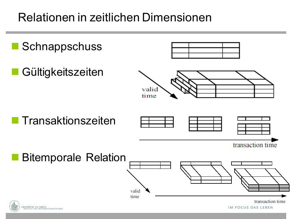 Relationen in zeitlichen Dimensionen