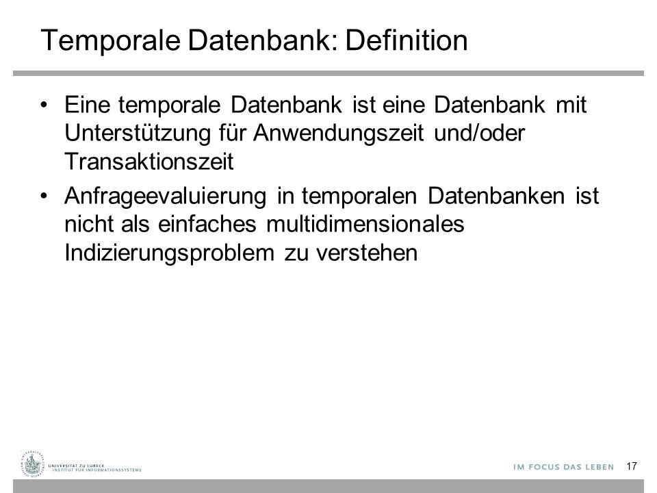 Temporale Datenbank: Definition