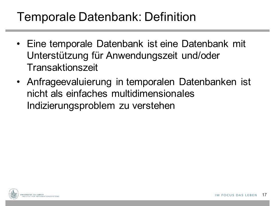 Temporale Datenbank: Definition