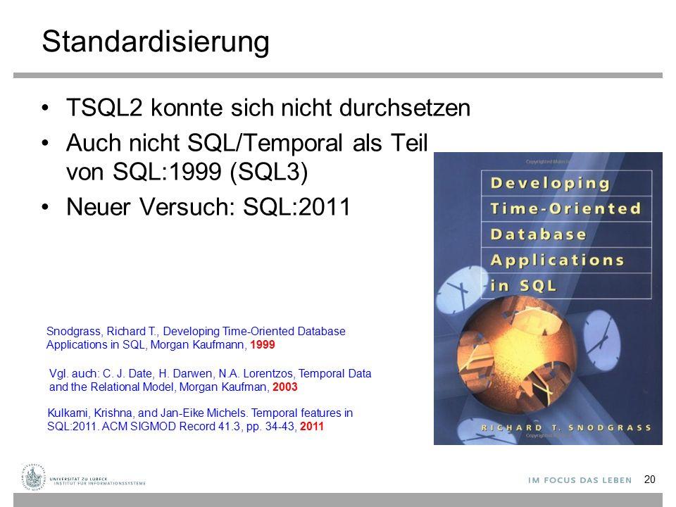 Standardisierung TSQL2 konnte sich nicht durchsetzen