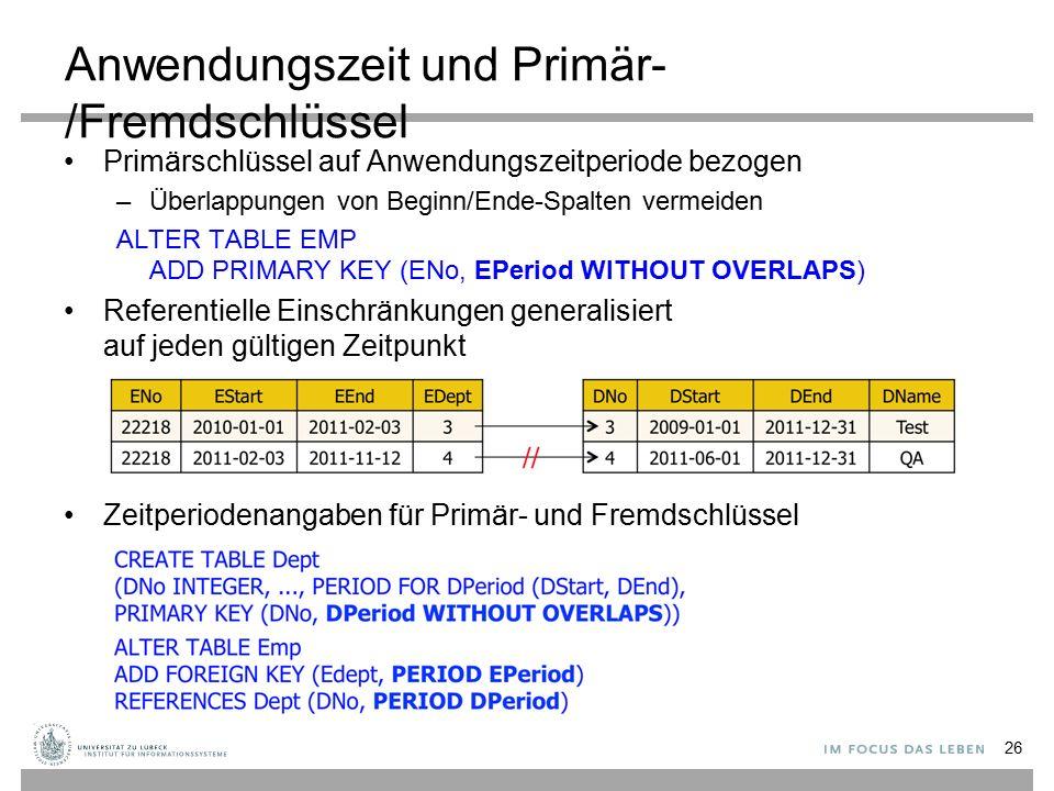 Anwendungszeit und Primär-/Fremdschlüssel