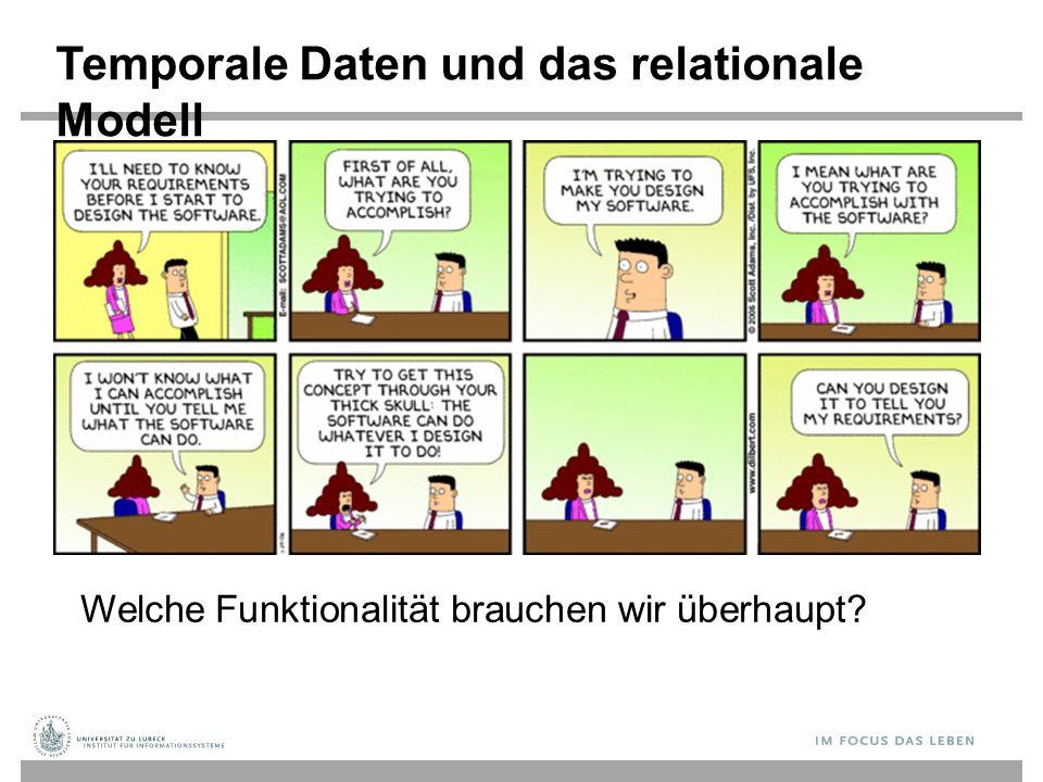 Temporale Daten und das relationale Modell