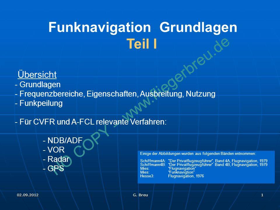 Funknavigation Grundlagen Teil I