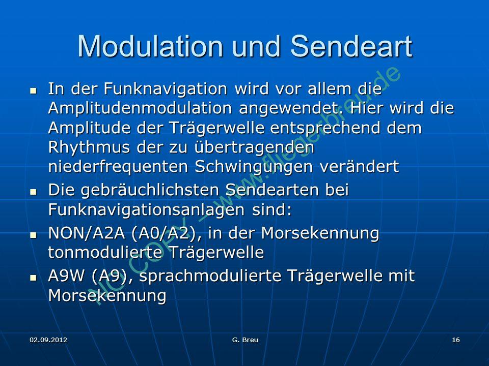Modulation und Sendeart