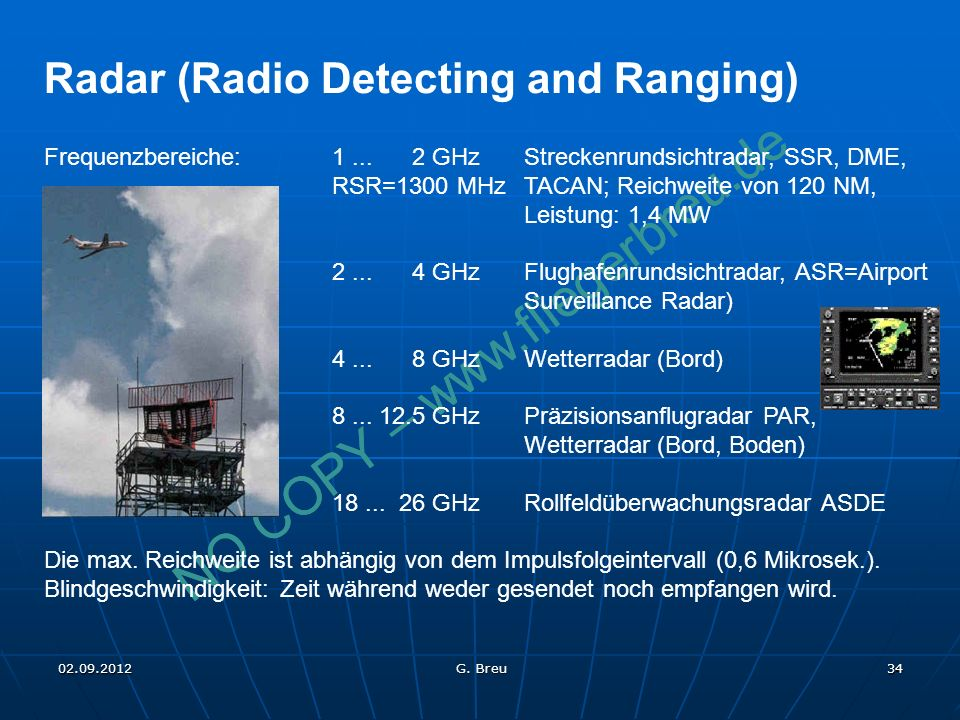 Radar (Radio Detecting and Ranging)