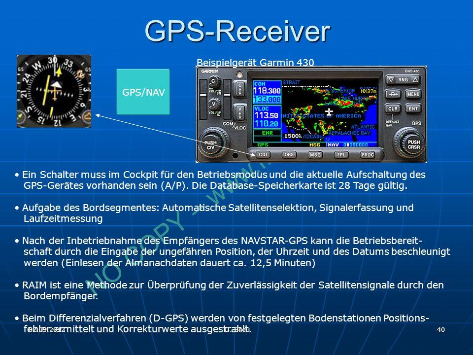 GPS-Receiver Beispielgerät Garmin 430 GPS/NAV