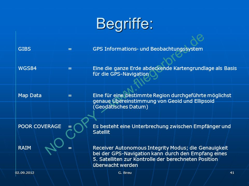 Begriffe: GIBS = GPS Informations- und Beobachtungssystem