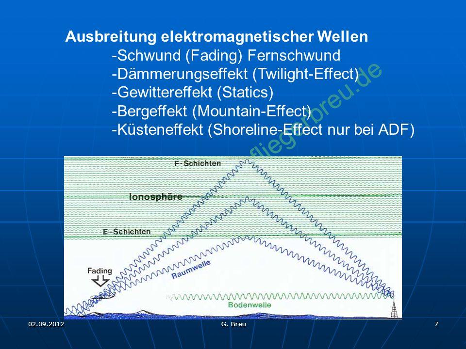 Ausbreitung elektromagnetischer Wellen -Schwund (Fading) Fernschwund
