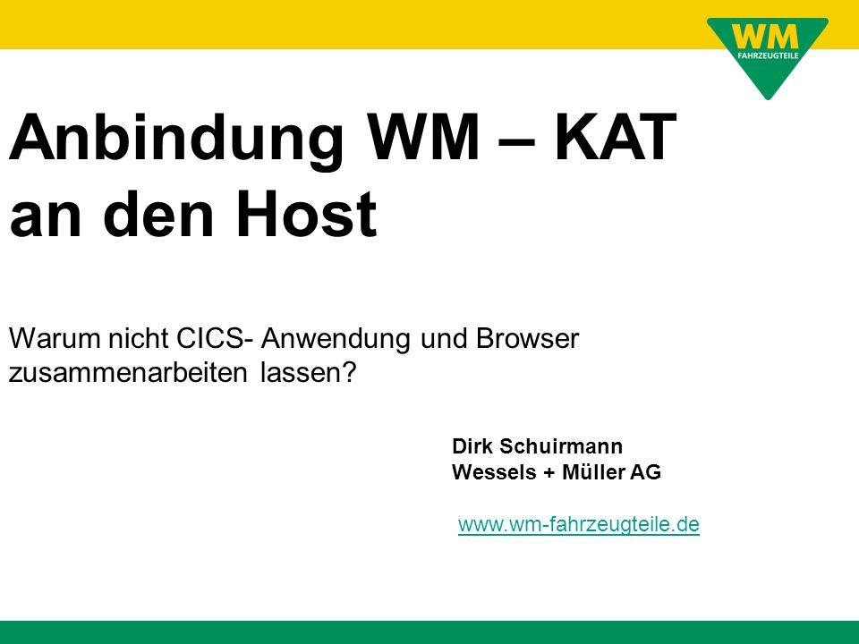 Anbindung WM – KAT an den Host
