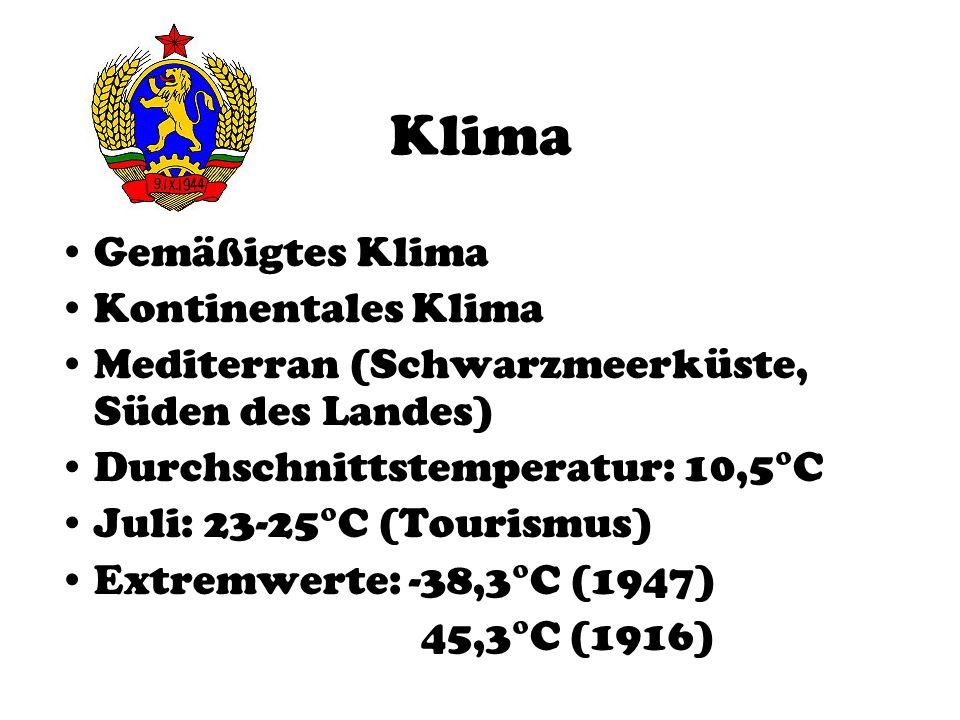 Klima Gemäßigtes Klima Kontinentales Klima