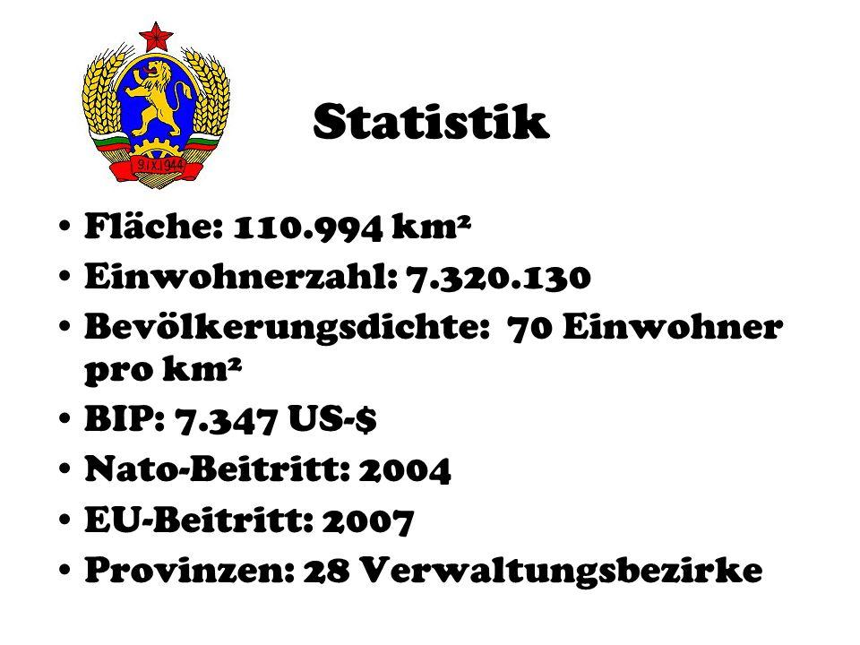 Statistik Fläche: 110.994 km² Einwohnerzahl: 7.320.130