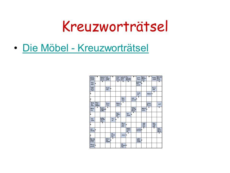 Kreuzworträtsel Die Möbel - Kreuzworträtsel