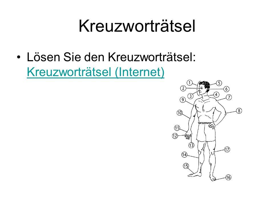 Kreuzworträtsel Lösen Sie den Kreuzworträtsel: Kreuzworträtsel (Internet)