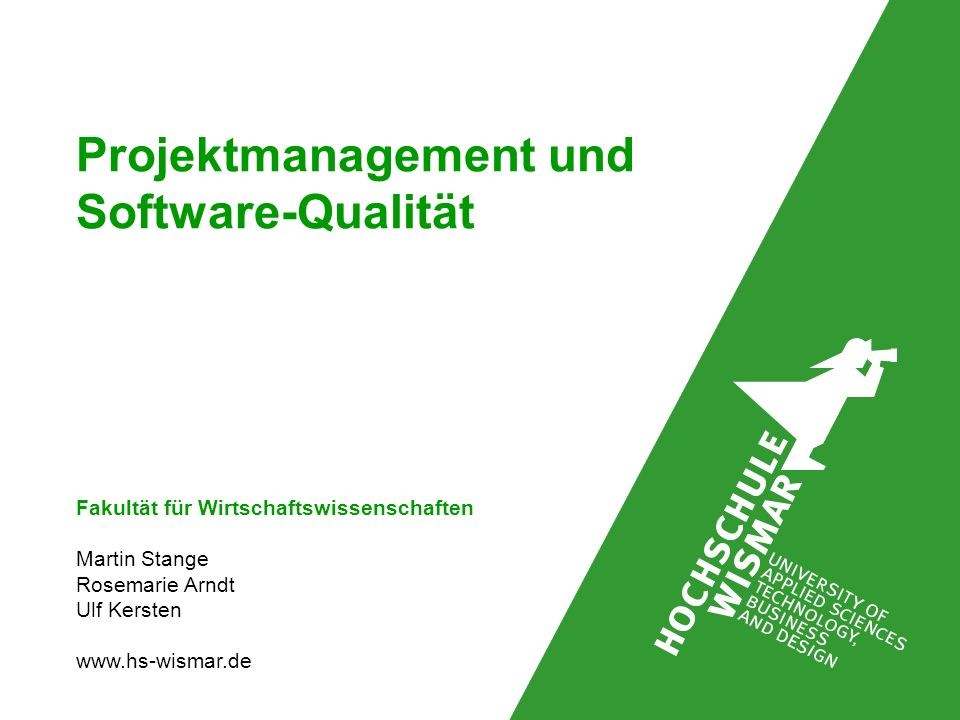 Projektmanagement und Software-Qualität