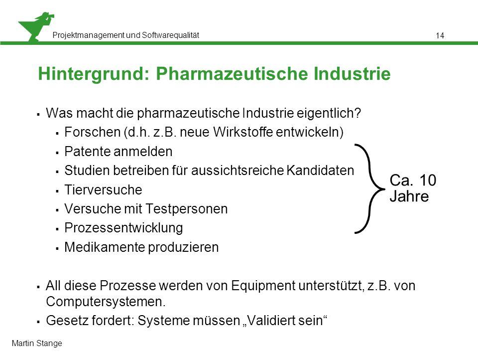 Hintergrund: Pharmazeutische Industrie