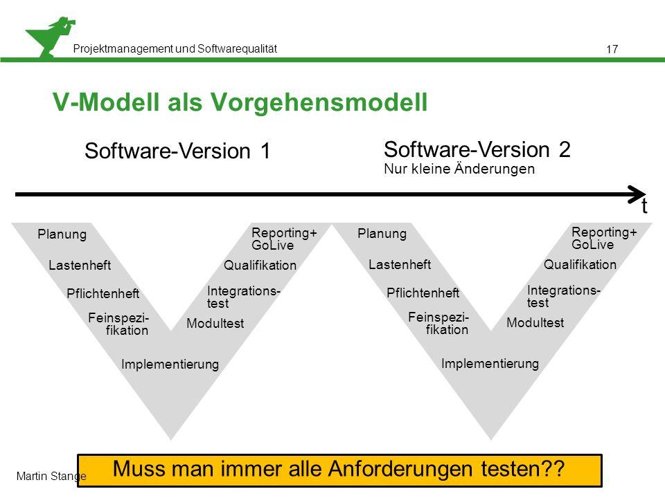 V-Modell als Vorgehensmodell