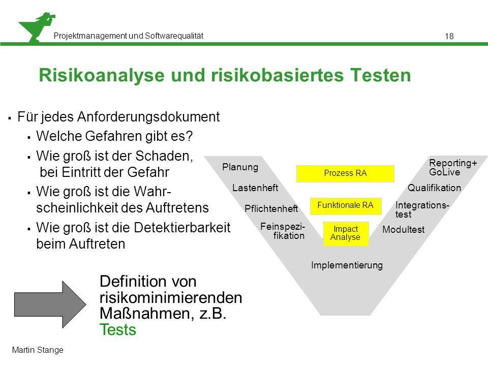 Risikoanalyse und risikobasiertes Testen