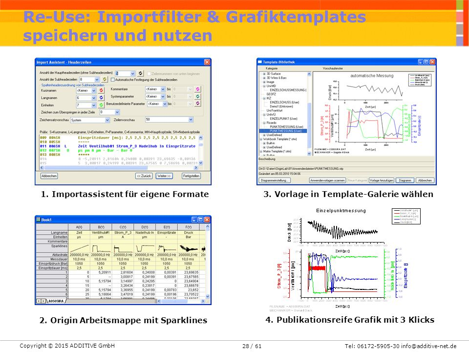 Re-Use: Importfilter & Grafiktemplates speichern und nutzen