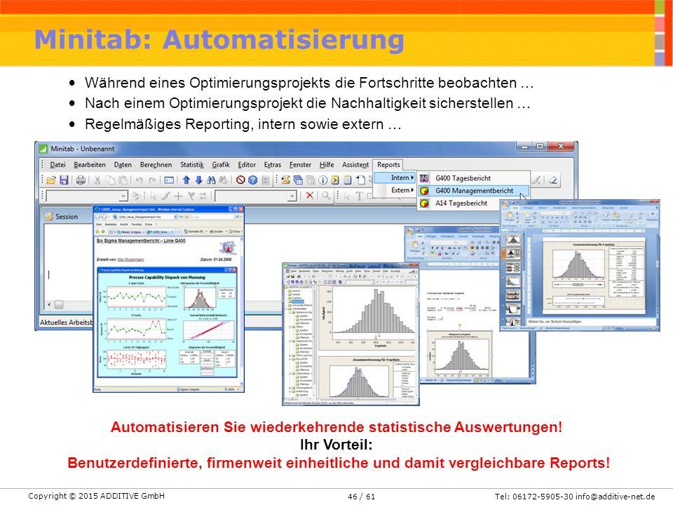 Minitab: Automatisierung