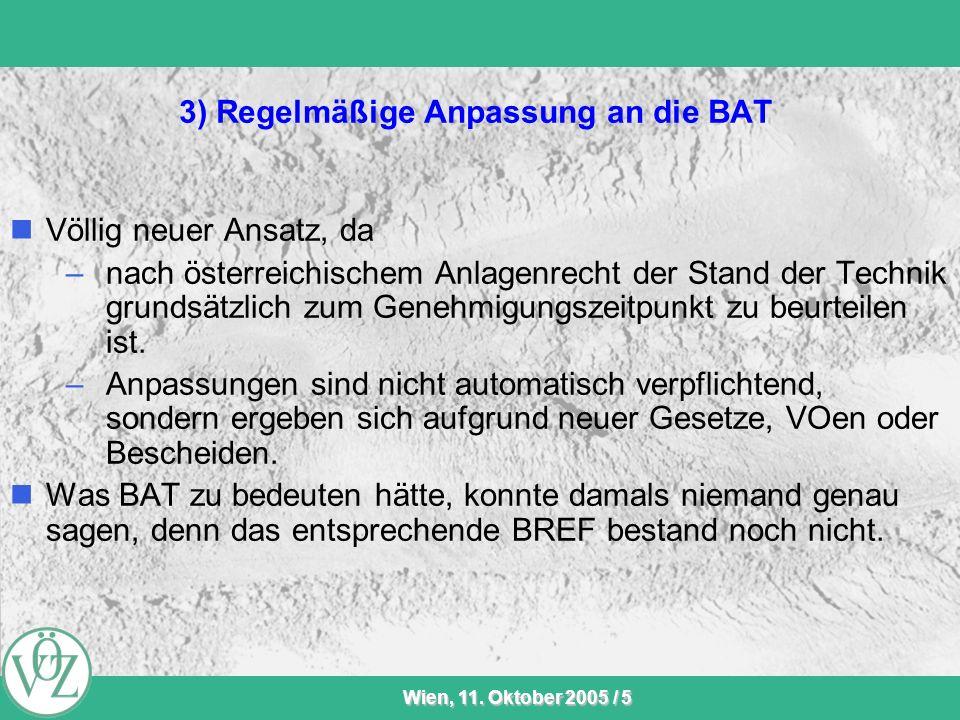 3) Regelmäßige Anpassung an die BAT