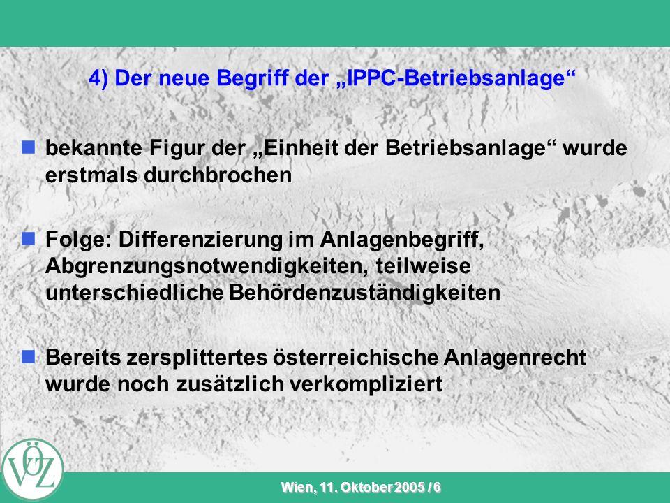 """4) Der neue Begriff der """"IPPC-Betriebsanlage"""