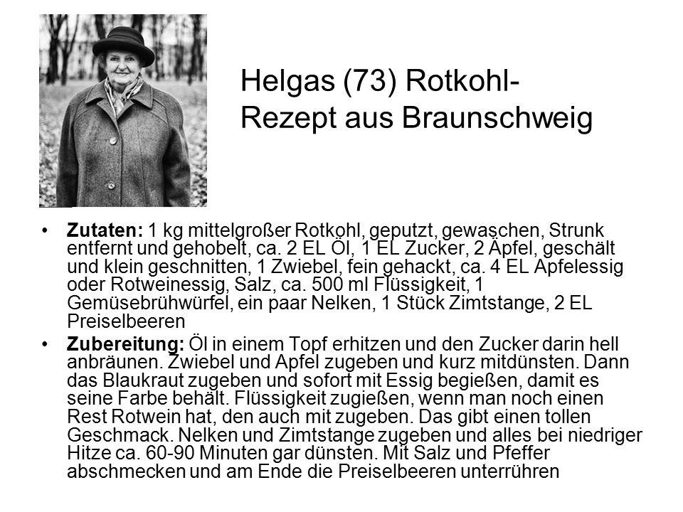 Helgas (73) Rotkohl-Rezept aus Braunschweig