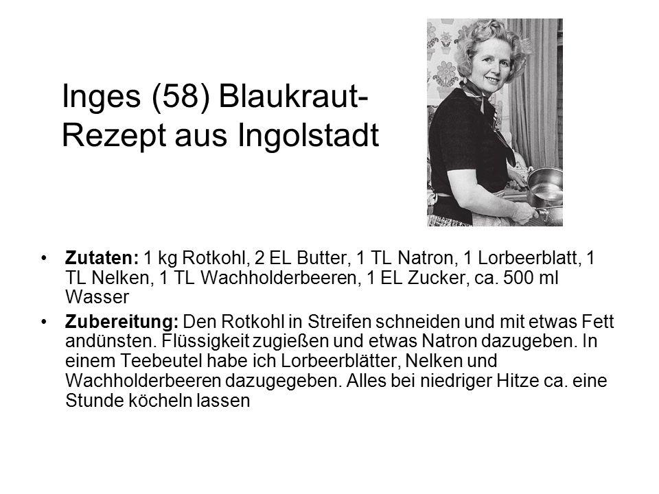 Inges (58) Blaukraut-Rezept aus Ingolstadt