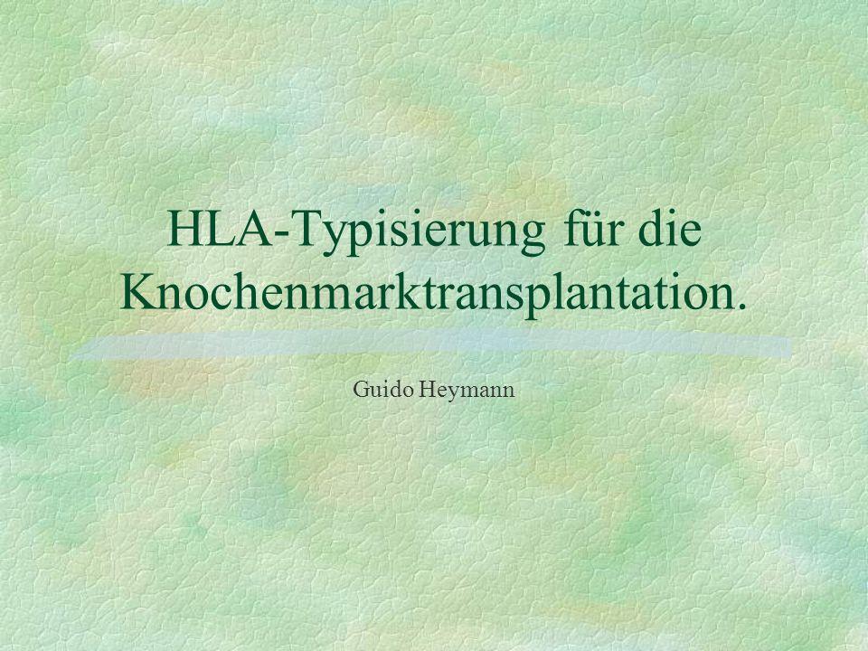 HLA-Typisierung für die Knochenmarktransplantation.