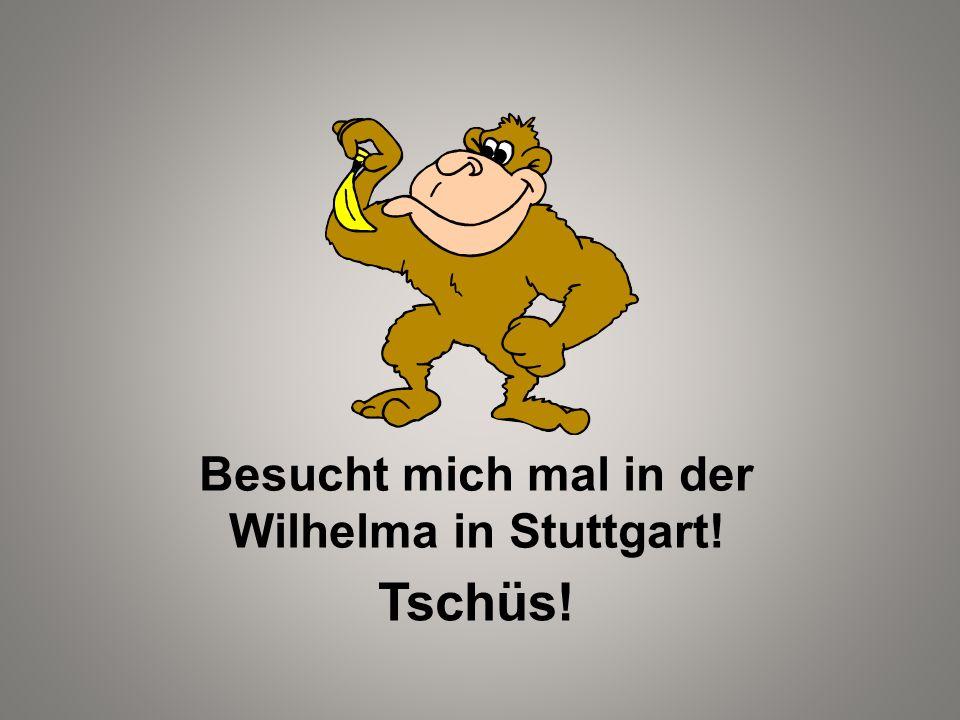 Besucht mich mal in der Wilhelma in Stuttgart!