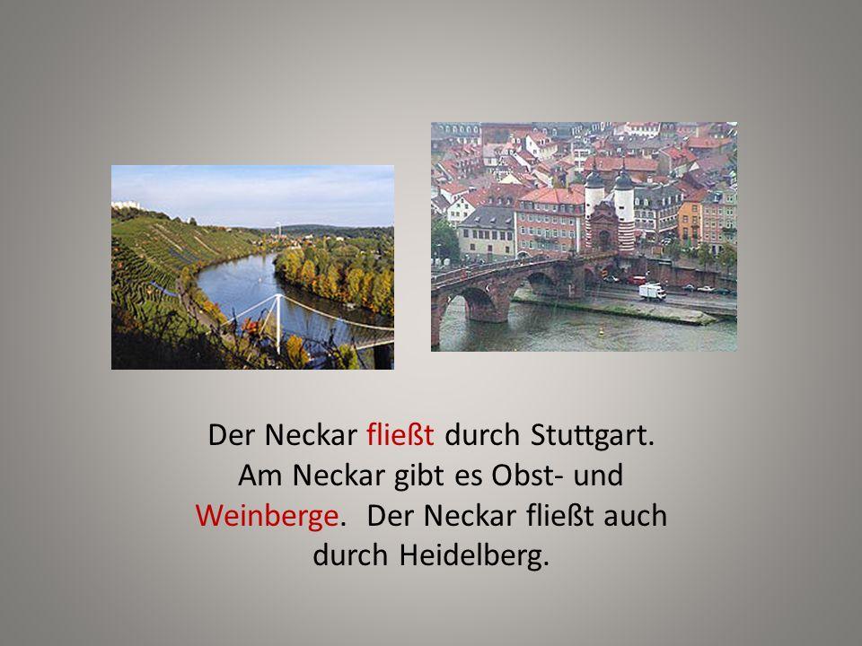 Der Neckar fließt durch Stuttgart