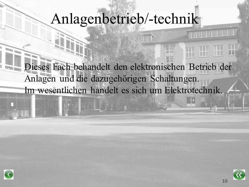 Anlagenbetrieb/-technik