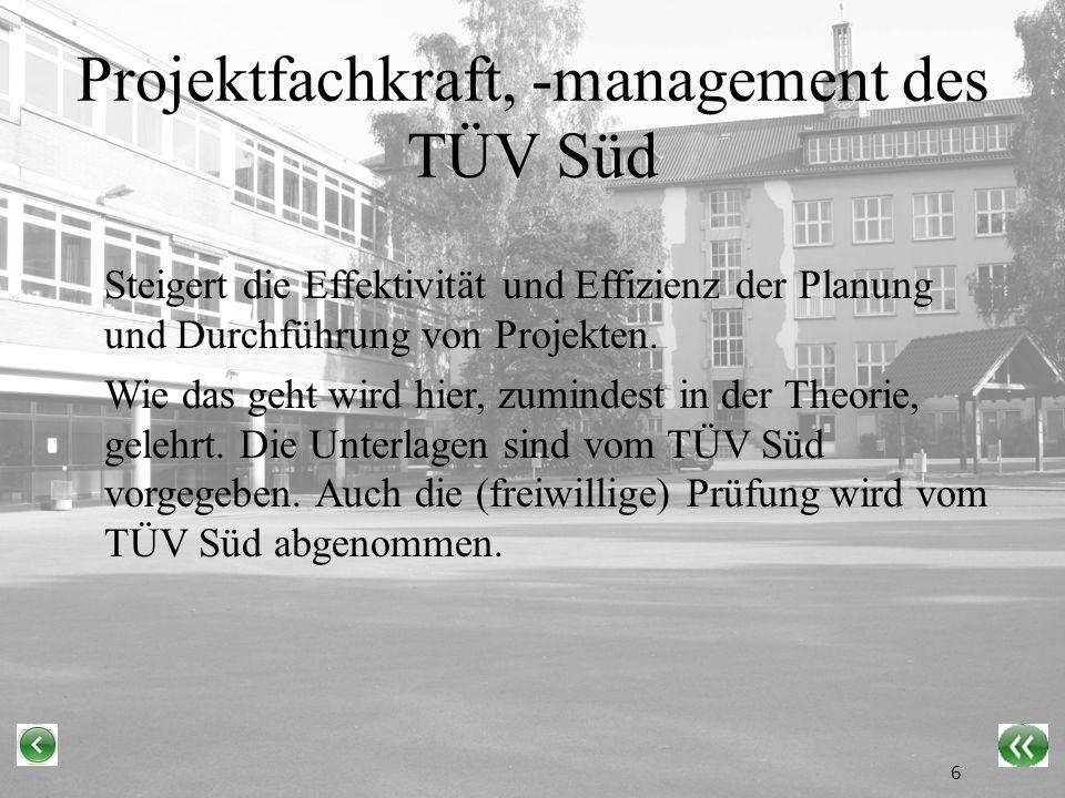 Projektfachkraft, -management des TÜV Süd