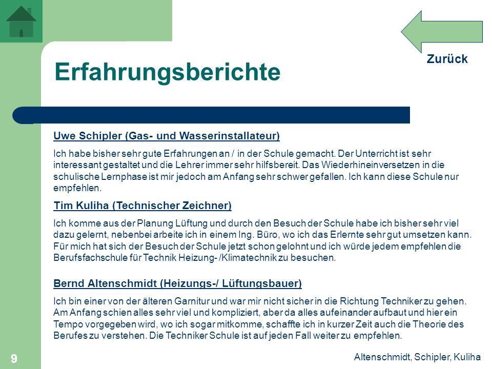 Erfahrungsberichte Uwe Schipler (Gas- und Wasserinstallateur)